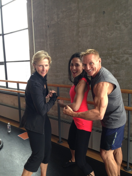 Tania with Moira Merrithew (founder of STOTT Pilates) and John Garey, STOTT Master Trainer
