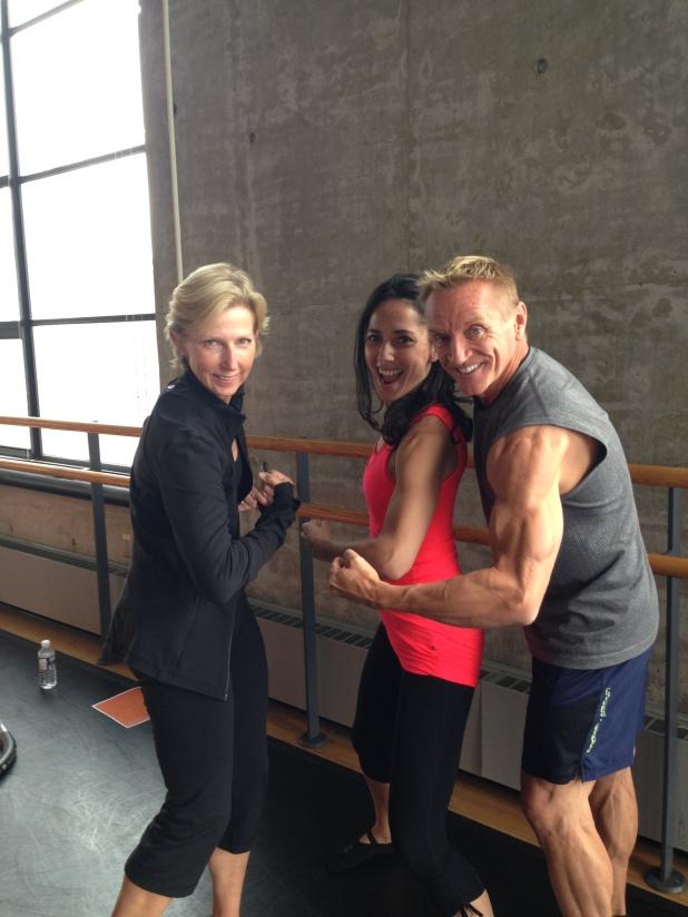 Tania with Moira Merrithew (founder of STOTT Pilates) and John Garey, STOTT Master Trainer