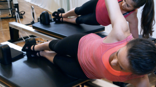 Side planks at Peacock Pilates