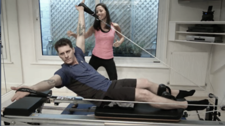 Pilates for men on the Reformer at the Peacock Pilates London Studio